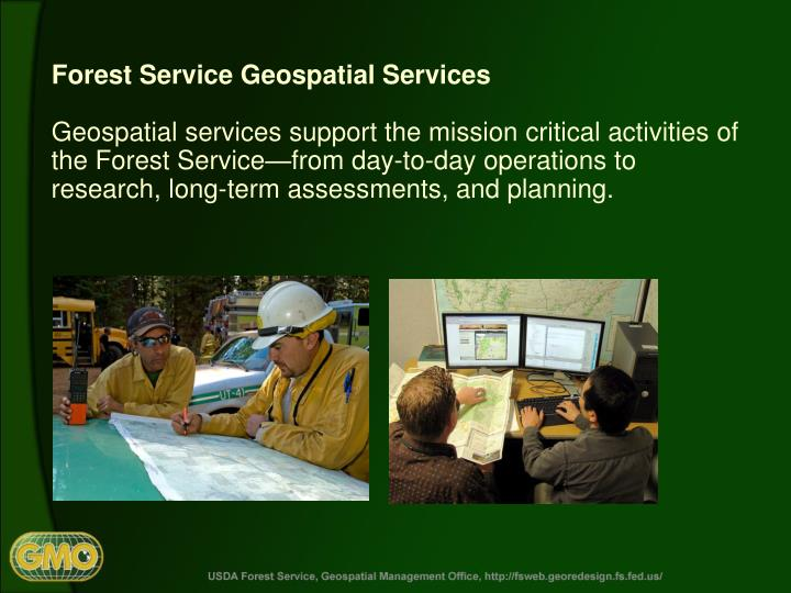 Forest Service Geospatial Services