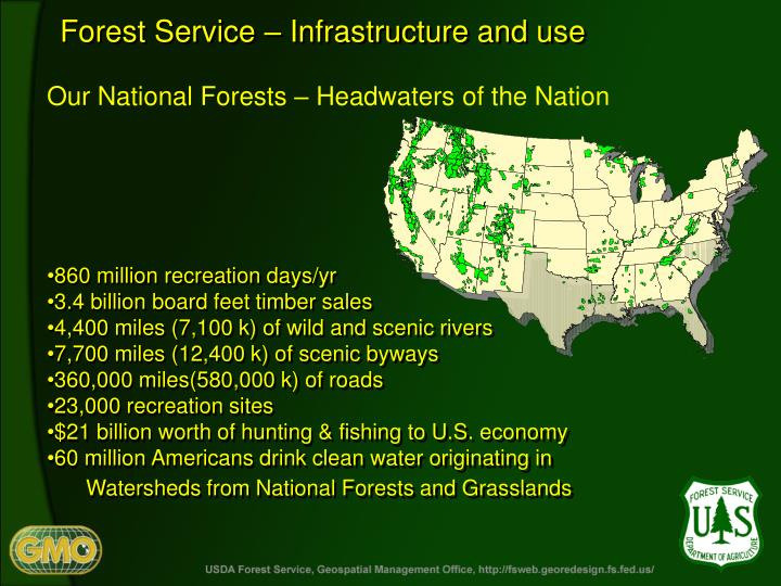 Forest Service – Infrastructure and use