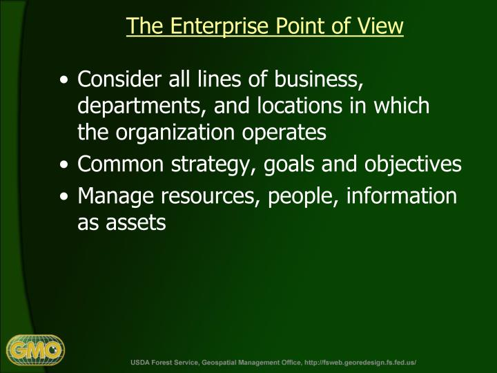 The Enterprise Point of View