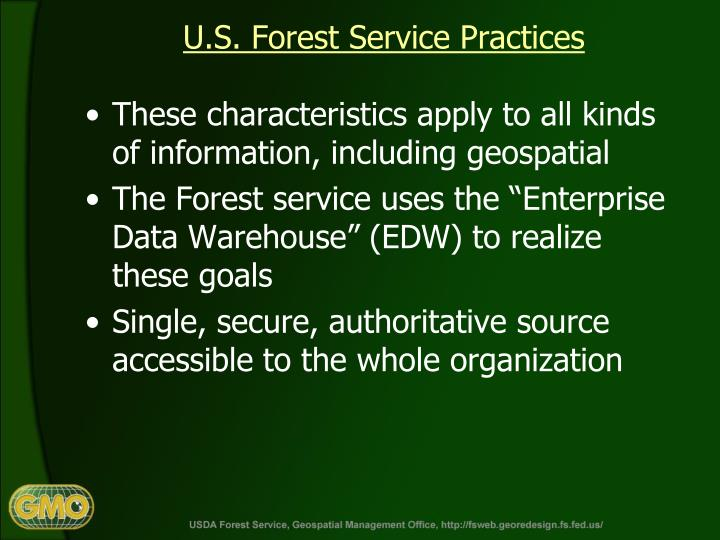 U.S. Forest Service Practices