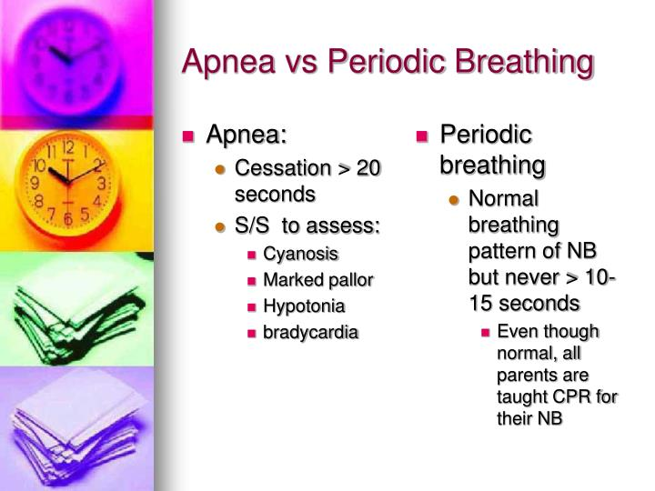 Apnea vs Periodic Breathing