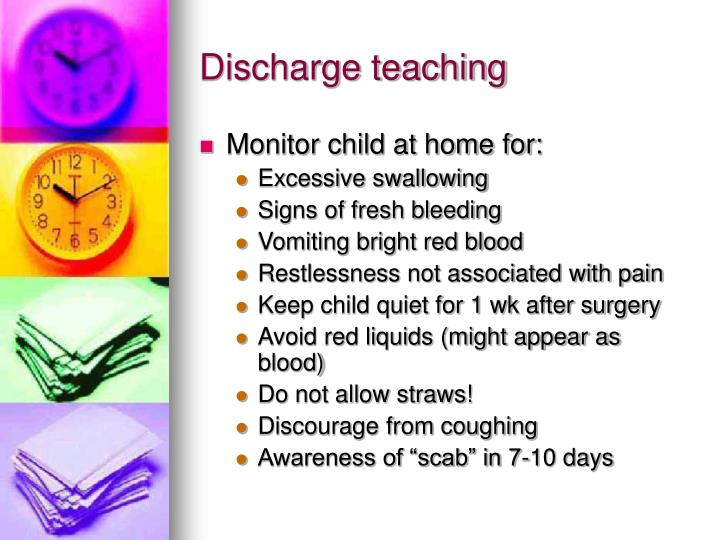 Discharge teaching