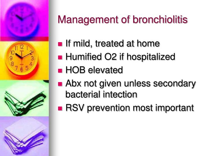 Management of bronchiolitis