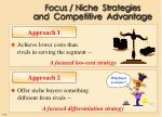 focus niche strategies and competitive advantage