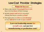 low cost provider strategies