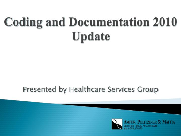 coding and documentation 2010 update n.