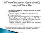 office of inspector general oig hospital work plan1