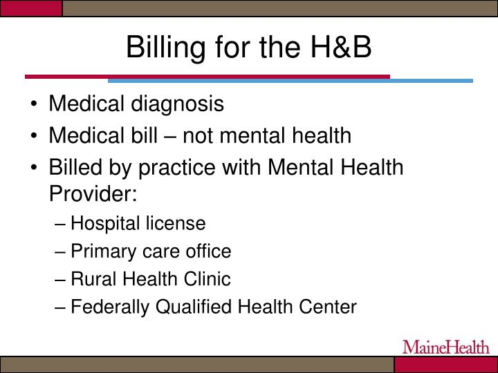 Billing for the H&B