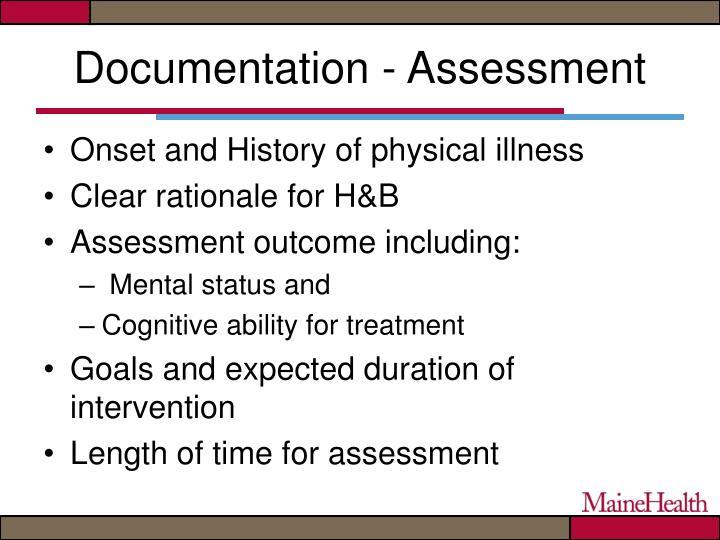 Documentation - Assessment