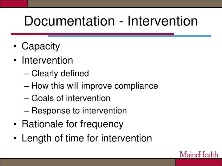 Documentation - Intervention