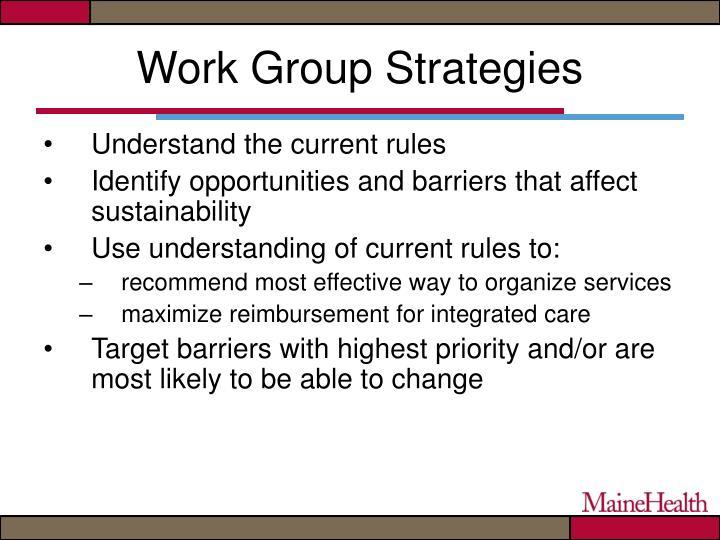 Work Group Strategies