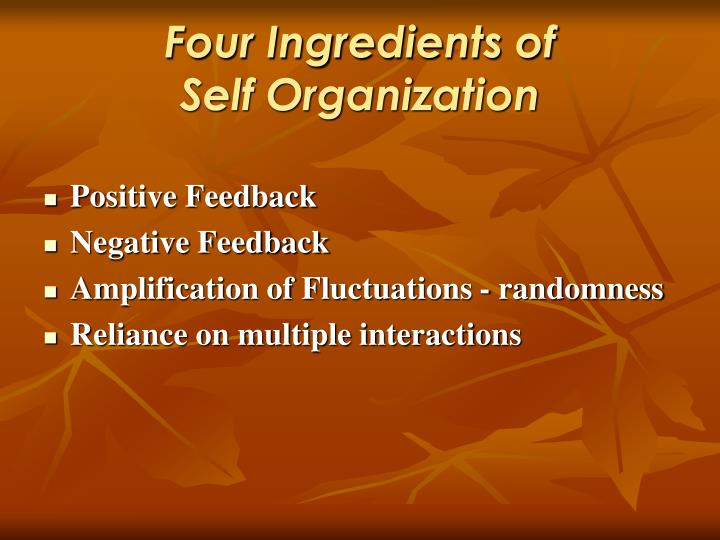 Four Ingredients of