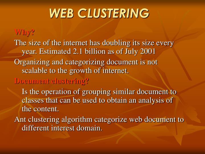 WEB CLUSTERING