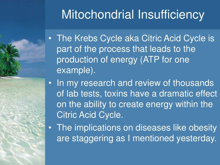 Mitochondrial Insufficiency
