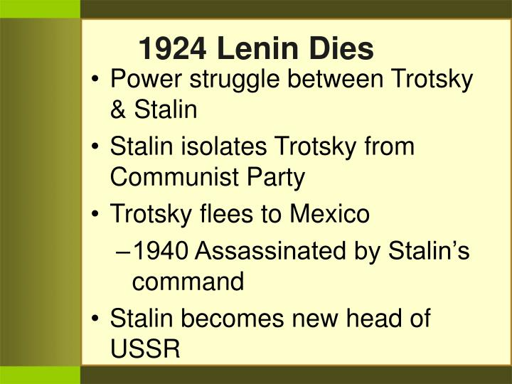 1924 Lenin Dies