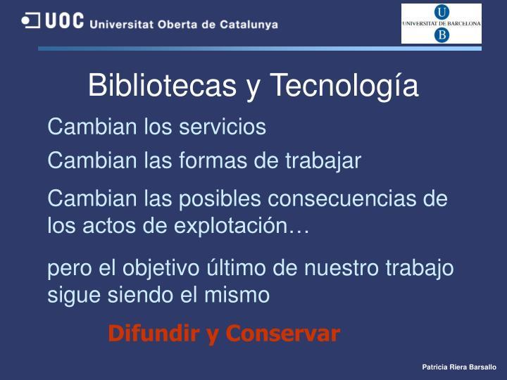Bibliotecas y Tecnología