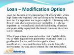 loan modification option