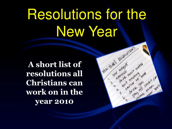 resolutions for the new year n.