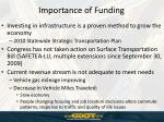 importance of funding