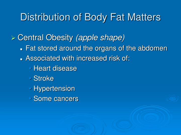Distribution of Body Fat Matters