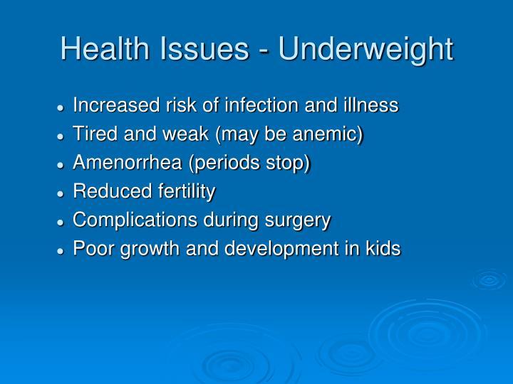 Health Issues - Underweight