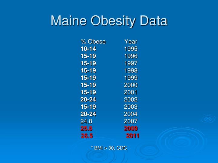 Maine Obesity Data