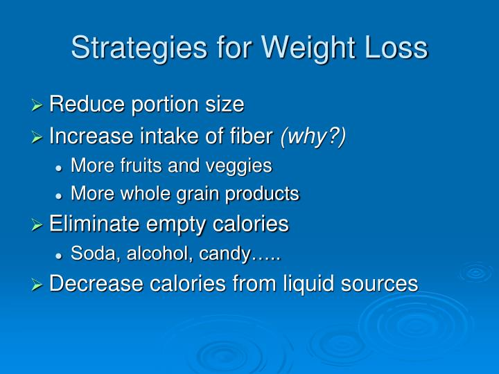 Strategies for Weight Loss