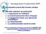 enseignement d exploration mps4