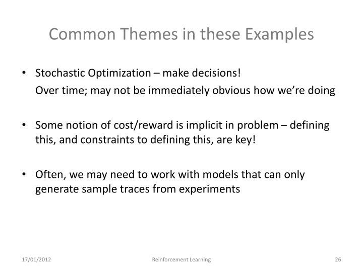 Common Themes in these Examples