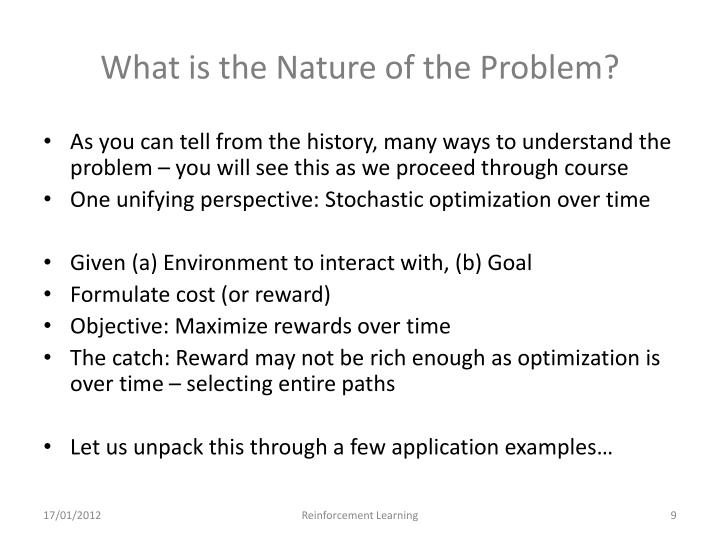 What is the Nature of the Problem?