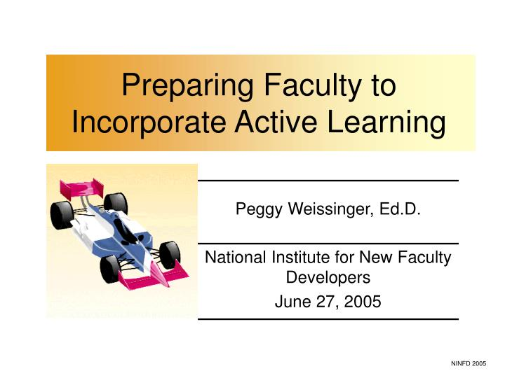 preparing faculty to incorporate active learning n.