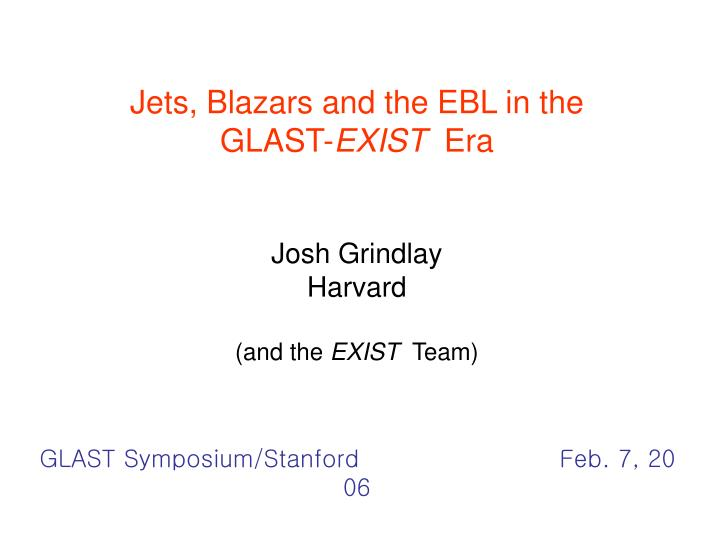 Jets, Blazars and the EBL in the