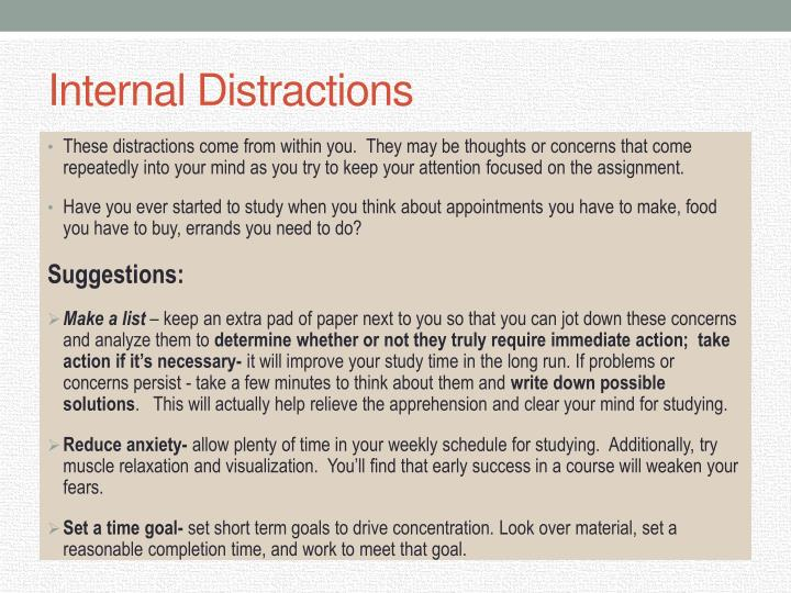 Internal Distractions