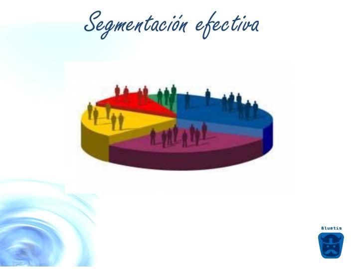 Segmentación efectiva