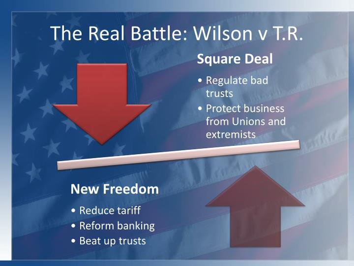The Real Battle: Wilson v T.R.