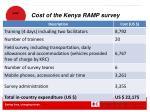 cost of the kenya ramp survey