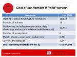 cost of the namibia ii ramp survey