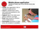 mobile phone application transforms complex logic into an effortless step by step process