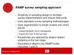 ramp survey sampling approach1