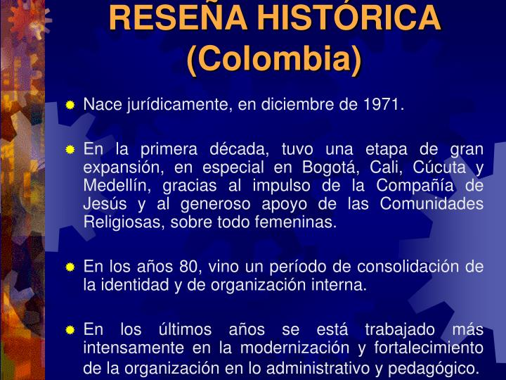 Rese a hist rica colombia