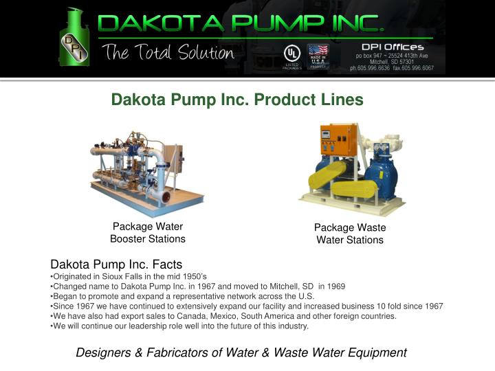 Dakota Pump Inc. Product Lines