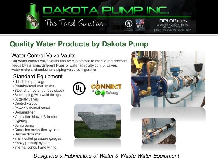 Quality Water Products by Dakota Pump