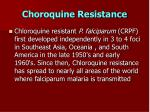 choroquine resistance
