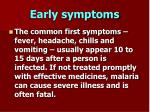 early symptoms