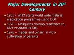 major developments in 20 th century