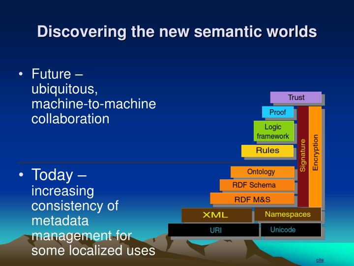 Discovering the new semantic worlds