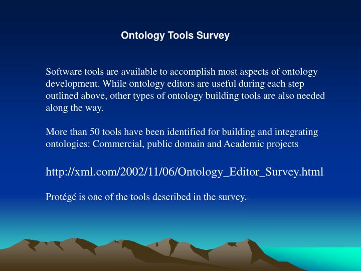 Ontology Tools Survey