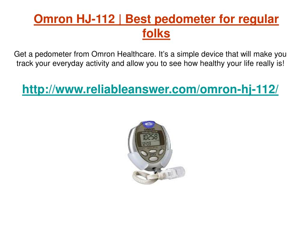 omron hj 112 best pedometer for regular folks l.