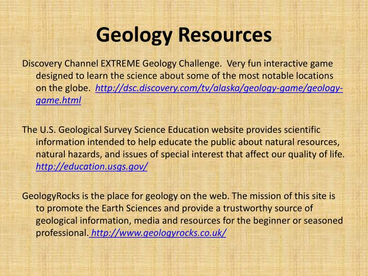 Geology Resources