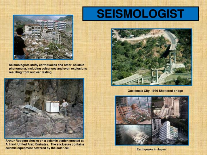SEISMOLOGIST